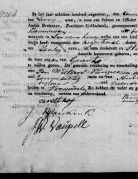 1819-10-19 - Geboorteakte Geurt Breukink