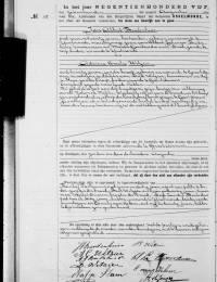 1905-08-17 - Huwelijksakte Jan Albert Buitenhuis en Adriana Cornelia Witzier