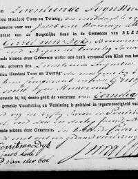 1822-08-17 - Geboorteakte Cornelia van Dijk