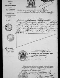 1878-02-21 - Overlijdensextract Adrianus Johannes Kop