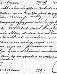 1902-10-26 - Overlijdensakte Antonie van Nuffelen