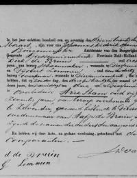 1871-03-23 - Overlijdensakte Arie Stam