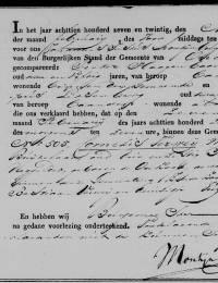 1827-02-07 - Overlijdensakte Cornelis Verweij