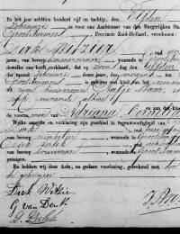 1885-02-11 - Geboorteakte Adriana Cornelia Witzier
