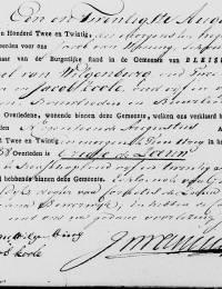 1822-08-19 - Overlijdensakte Grietje de Zeeuw